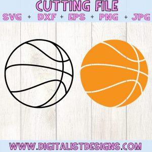 Basketball SVG file! This would be amazing for a variety of DIY Sports craft projects such as: HTV T-shirts, mugs, home decor, scrapbooking, stickers, planners, and more! Cricut Design Space and Silhouette Studio compatible. Vector clip art printable.