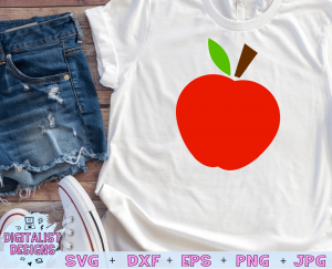 Apple SVG cut file! This would be amazing for a variety of DIY Teacher craft projects such as: HTV T-shirts, mugs, home decor, scrapbooking, stickers, planners, and more! Cricut Design Space and Silhouette Studio compatible. Vector clip art printable.