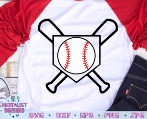 Baseball Bat and Diamond SVG cut File | Baseball SVG files for Cricut & Silhouette