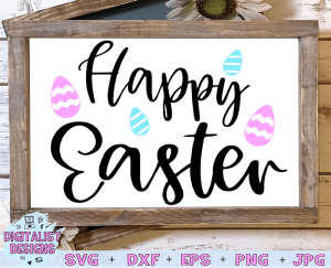 Happy Easter SVG cut File | Easter SVG files for Cricut & Silhouette