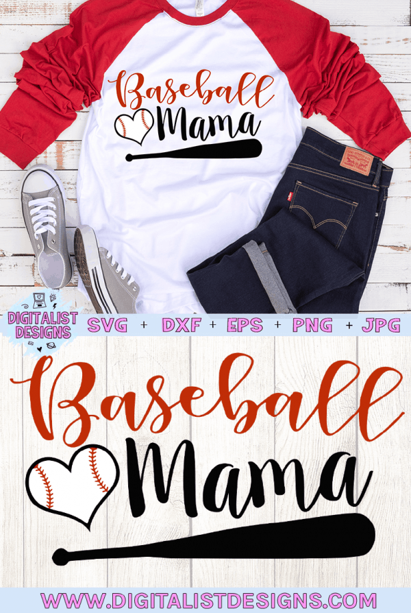Baseball Mama SVG cut File | Baseball SVG files for Cricut & Silhouette